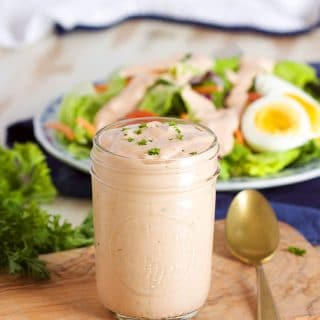 Quick and Easy Thousand Island Dressing recipe made completely from scratch. | TheSuburbanSoapbox.com