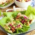 Grilled Teriyaki Chicken Lettuce Wraps with Pineapple Slaw   TheSuburbanSoapbox.com
