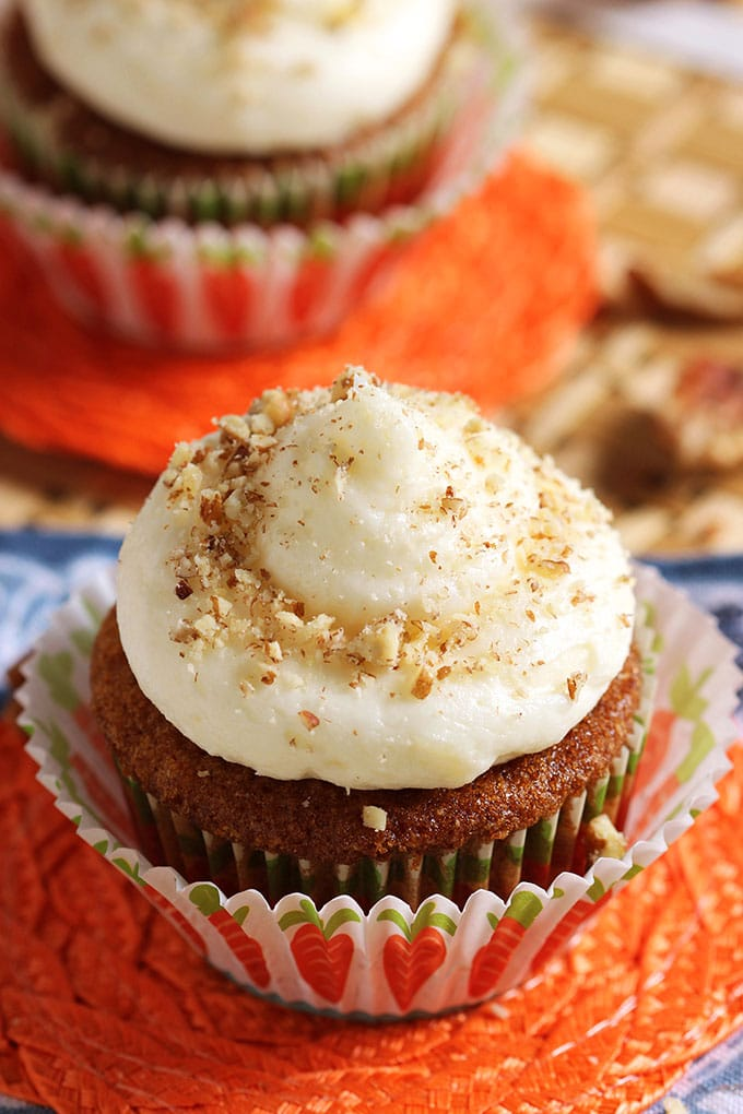 Super easy and perfect results every time, the BEST Carrot Cake Cupcakes with Cream Cheese Frosting recipe is perfect for every occasion.   TheSuburbanSoapbox.com