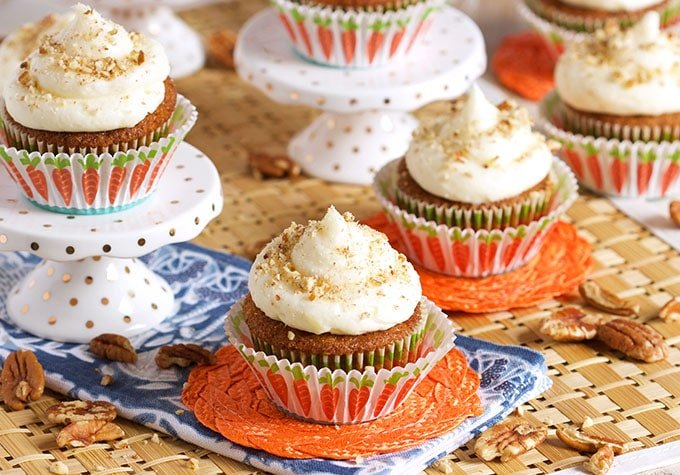 The Best Carrot Cake Cupcakes With Cream Cheese Frosting The