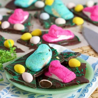 Peeps Stuck in the Mud (Easter Chocolate Bark)