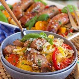 Easy Sheet Pan Sausage and Peppers