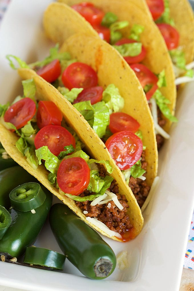 Super easy to make Slow Cooker Taco Beef is a great make ahead option for parties or busy weeknight dinners. | Thesuburbansoapbox.com