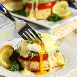 California Style Tuna Eggs Benedict