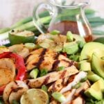 Grilled Fajita Chicken Salad with Honey Lime Vinaigrette | TheSuburbanSoapbox.com