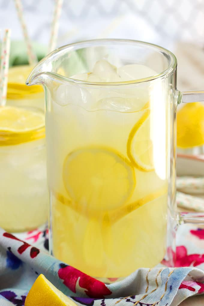Super easy to make, this is the BEST Classic Lemonade recipe around. Perfect for summer! | TheSuburbanSoapbox.com