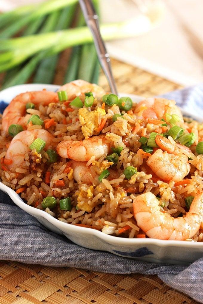 Easy Shrimp Fried Rice Recipe | TheSuburbanSoapbox.com