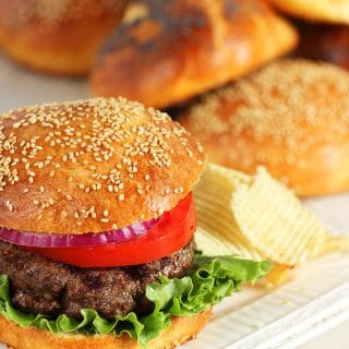 Easy Brioche Hamburger Buns