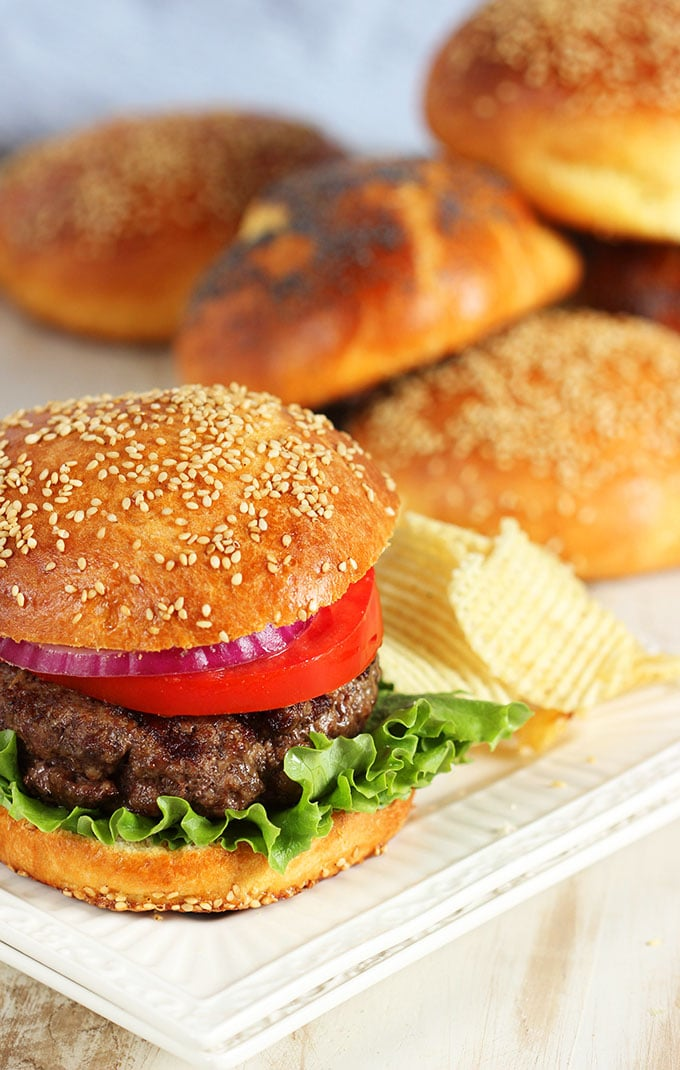easy brioche hamburger buns the suburban soapbox. Black Bedroom Furniture Sets. Home Design Ideas