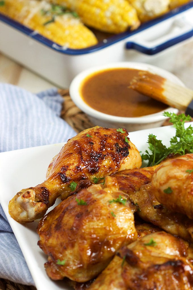 Sweet and tangy, this Carolina Style Barbecue Chicken recipe is a fabulous addition to every cookout or picnic! | TheSuburbanSoapbox.com