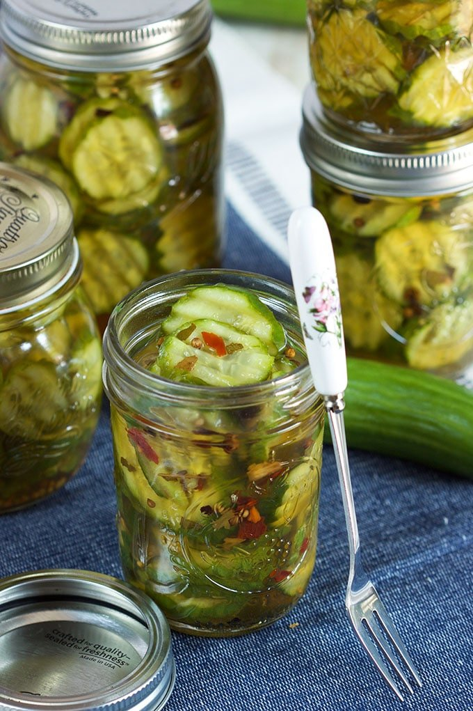 Easy Quick Bread and Butter Refrigerator Pickles - The ...