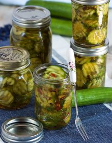 Super quick and easy to make Quick Bread and Butter Refrigerator Pickles are a summertime staple. | TheSuburbanSoapbox.com