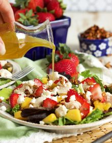 Strawberry Mango Chicken Salad | TheSuburbanSoapbox.com