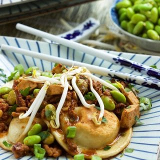 Ready in less than 30 minutes, these Easy Szechuan Style Pierogies are a great weeknight dinner you're entire family will love! | TheSuburbanSoapbox.com