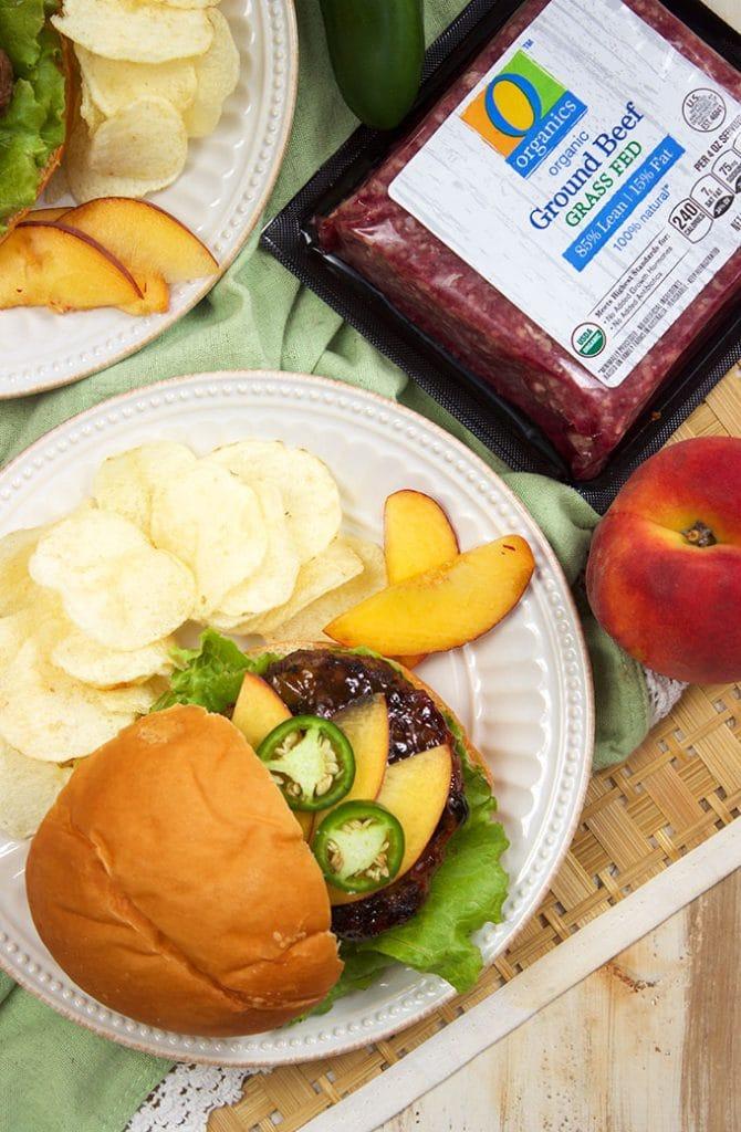 Peach Glazed Blue Cheese Burgers recipe | TheSuburbanSoapbox.com