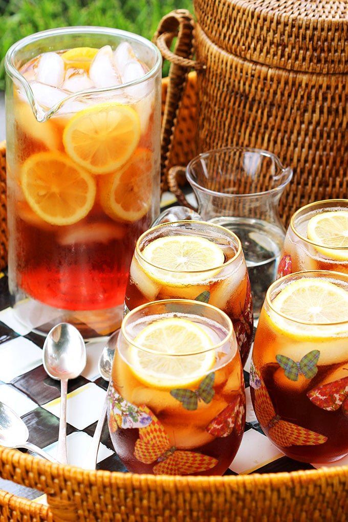 Easy to make and ready in minutes, Southern Style Sweet Tea is simple and refreshing. | TheSuburbanSoapbox.com