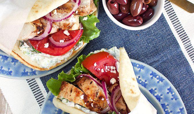 Grilled Chicken Gyro Recipe