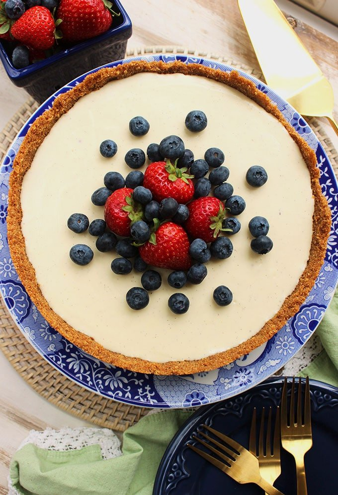 The easiest and BEST No Bake Cheesecake Recipe ever....this one comes together in about 10 minutes! | TheSuburbanSoapbox.com