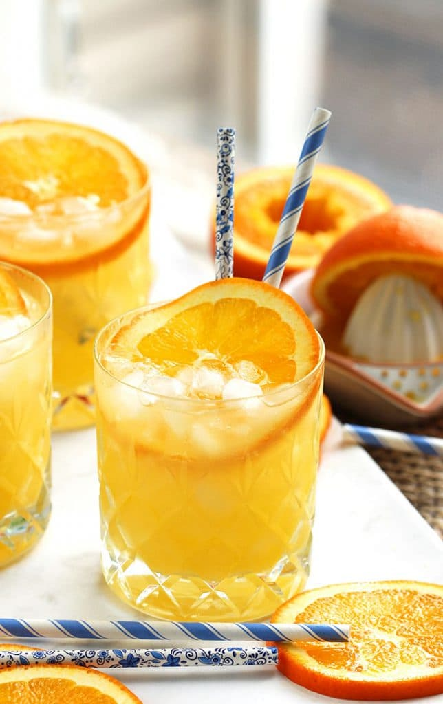 Light and refreshing, this Orange Crush Cocktail Recipe is the perfect summer drink! | TheSuburbanSoapbox.com