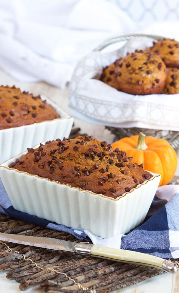 Chocolate Chip Pumpkin Bread Recipe | TheSuburbanSoapbox.com