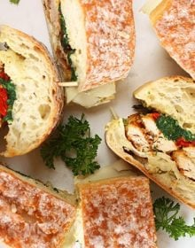 Feed a crowd, party perfect for game day, tailgating or just a fun gathering...these Italian Chicken Cutlet Sandwiches are a great make ahead option for every event! | TheSuburbanSoapbox.com
