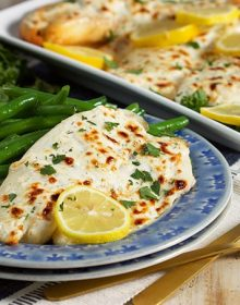 Flaky Parmesan Tilapia | TheSuburbanSoapbox.com #TrimHealthyTable