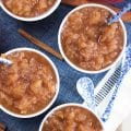 Super easy to make Easy Slow Cooker Applesauce recipe is the BEST homemade treat for fall. A must make for the apple season. TheSuburbanSoapbox.com