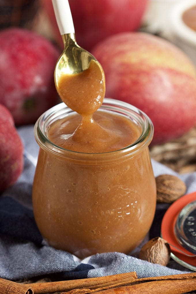 Incredibly easy to make, this is the Best Slow Cooker Apple Butter Recipe around. Super easy and filled with fall flavor. | TheSuburbanSoapbox.com