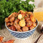 Bacon Parmesan Roasted Potatoes   TheSuburbanSoapbox.com #roastedpotatoes #recipe