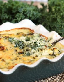 Cheesy Kale Gratin Recipe | TheSuburbanSoapbox.com