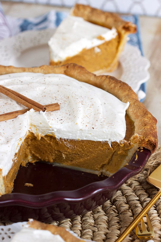 Easy Deep Dish Pumpkin Pie from Scratch recipe | thesuburbansoapbox.com