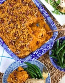 Sweet Potato Casserole with Cornflake Pecan Crust | TheSuburbanSoapbox.com