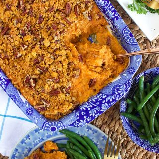 Sweet Potato Casserole with Cornflake Pecan Crust