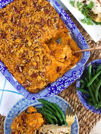 Sweet Potato Casserole with Cornflake Pecan Crust   TheSuburbanSoapbox.com