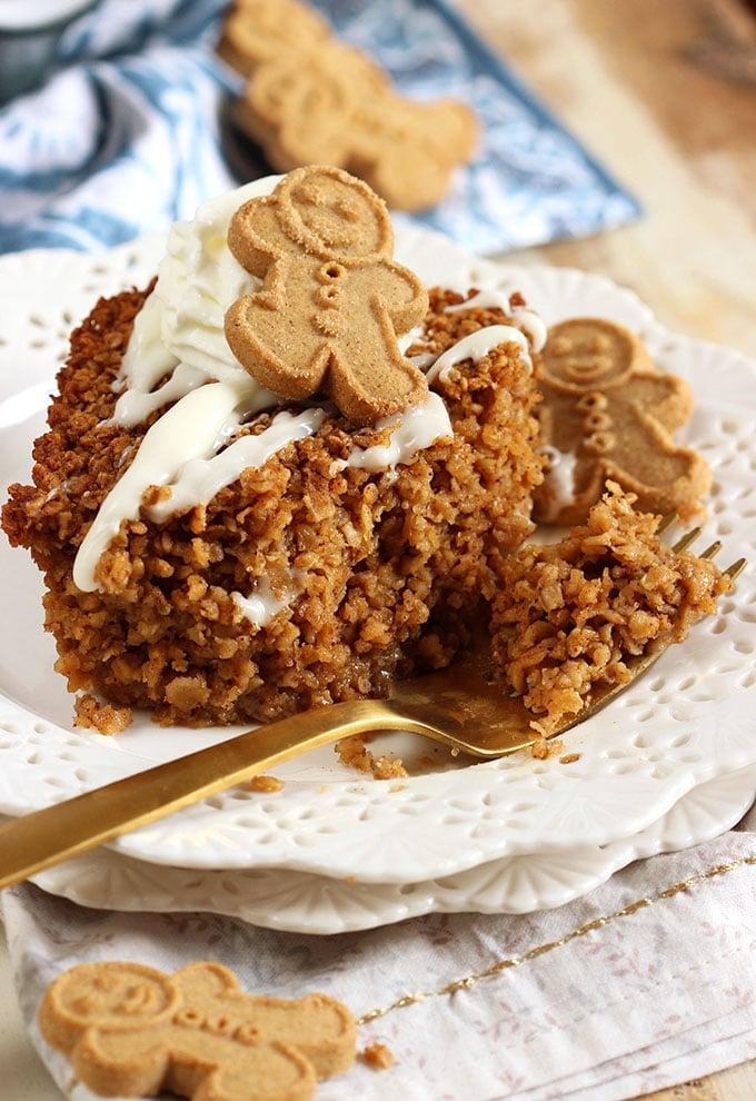 Easy Gingerbread Baked Oatmeal Recipe   TheSuburbanSoapbox.com