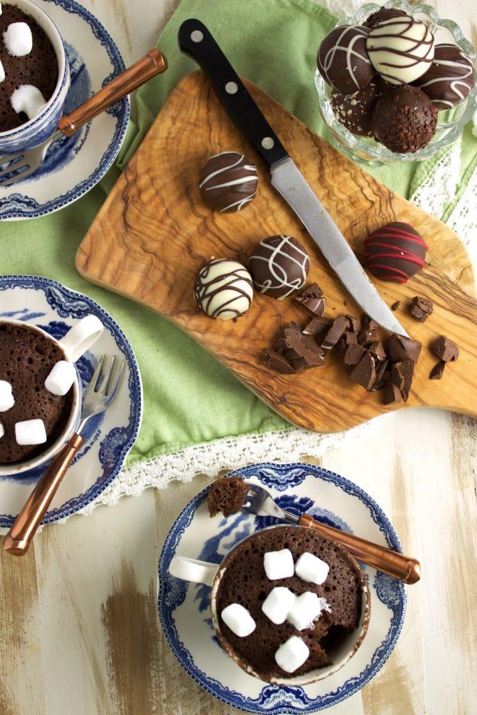 Hot Chocolate Mug Cake Recipe | TheSuburbanSoapbox.com