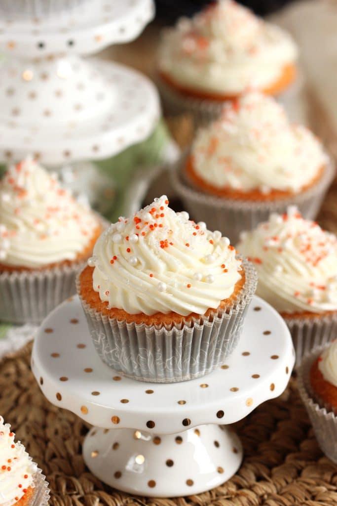 Orange Creamsicle Cupcake Recipe | TheSuburbanSoapbox.com