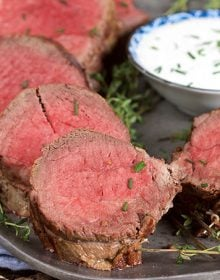 Roast Beef Tenderloin with Creamy Horseradish Sauce | TheSuburbanSoapbox.com