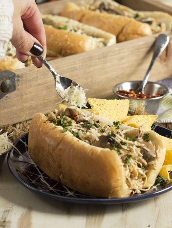 Slow Cooker Chicken Philly Cheesesteak Sandwich | theSuburbanSoapbox.com