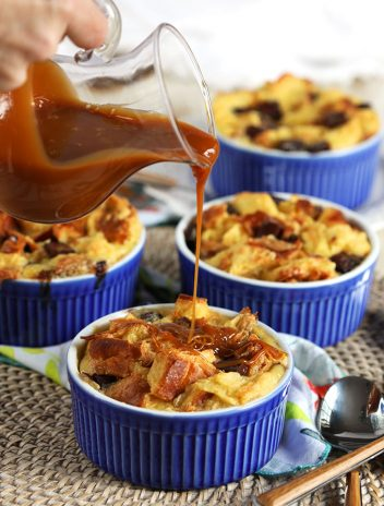 Brioche Chocolate Chunk Bread Pudding | thesuburbansoapbox.com