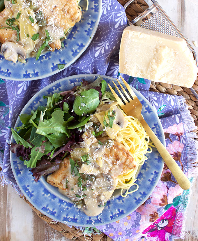 Creamy Chicken Piccata Recipe | TheSuburbanSoapbox.com