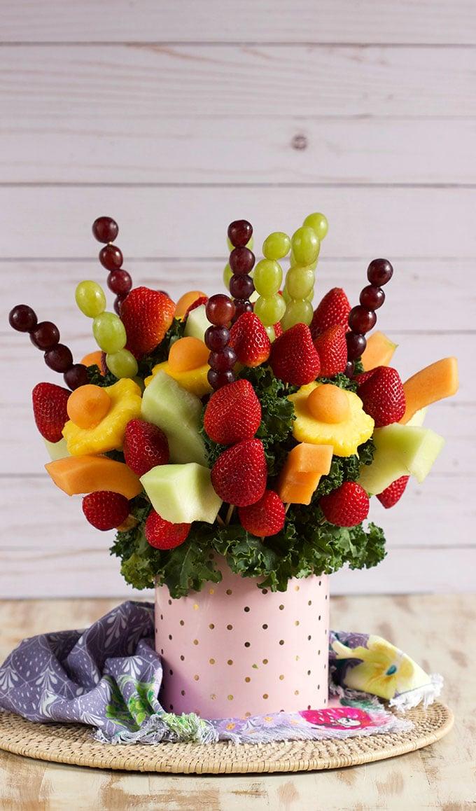 How To Make An Edible Fruit Bouquet Video The Suburban Soapbox