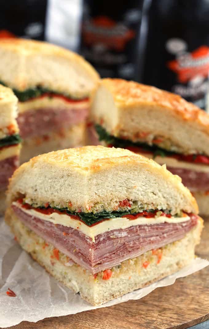 New Orleans Classic Muffuletta Sandwich Recipe | thesuburbansoapbox.com