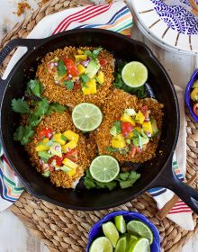 Tortilla Crusted Tilapia with Avocado Mango Salsa | Thesuburbansoapbox.com