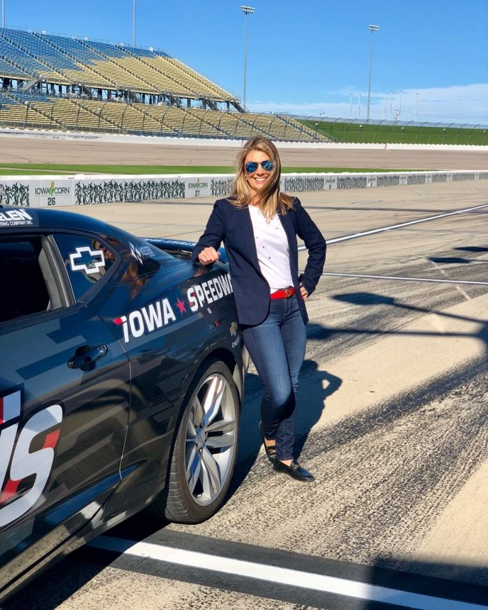 Kellie Hemmerly of TheSuburbanSoapbox.com at Iowa Speedway